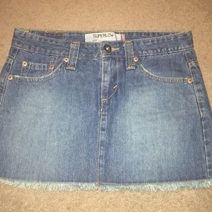 Levi's Superlow Denim Skirt
